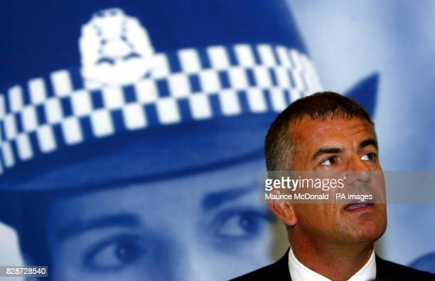 Detective Inspector Tom Martin gives a press conference at the church hall in Dalkeith near Edinburgh where he appealed for information about the...