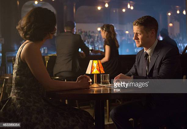 Detective James Gordon and Dr Leslie Thompkins go on a date in the 'The Fearsome Dr Crane' episode of GOTHAM airing Monday Feb 2 2015 on FOX