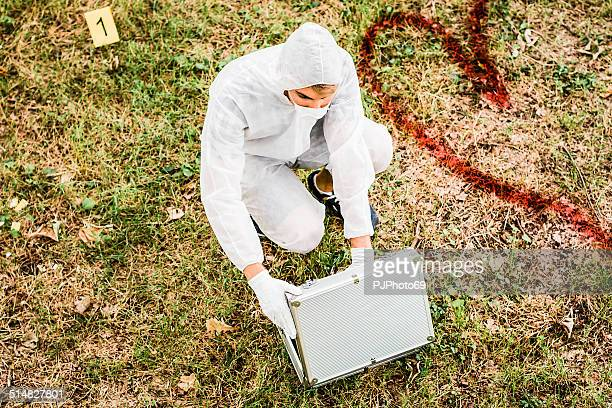 CSI Detective on crime scene
