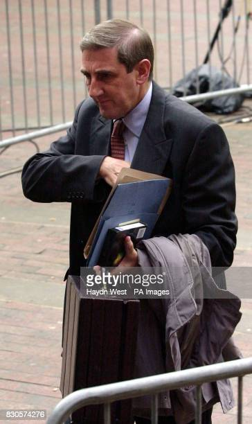 Detective Superintendant Eddie Hemsley who headed the investigation into the assault of Asian student Sarfraz Najeib arrives at Hull Crown Court...