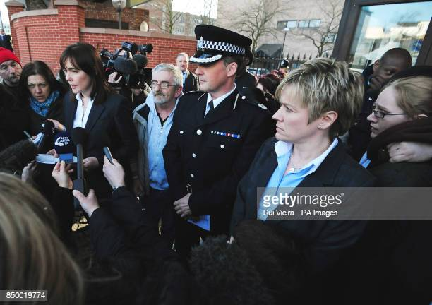 Detective superintendent Kate Meynell of the East Midlands Special Operations Unit Assistant Chief Constable Steve Cotterill of Derbyshire Police and...