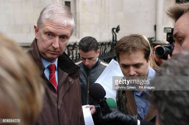 Detective Superintendent Kevin Macey of Essex Constabulary talks to the press outside the Royal Courts of Justice in London Wednesday February 22...