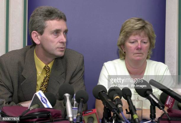 Detective Superintendent Peter Coltman with Linda Jones the mother of missing Danielle Jones as she makes an emotional plea for any help in finding...