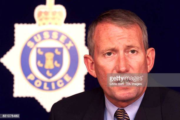 Detective Superintendent Peter Kennet of Sussex Police informs the media at Littlehampton police station that Roy Whiting has been arrested by police...