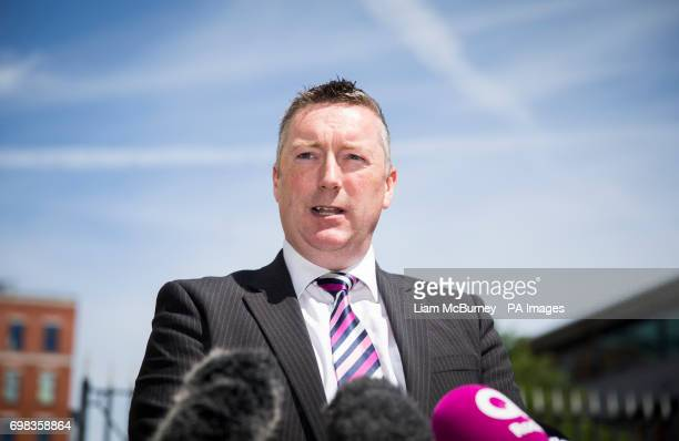 Detective Superintendent Richard Campbell of the Police Service of Northern Ireland's Serious Crime Branch outside Laganside Courts in Belfast after...