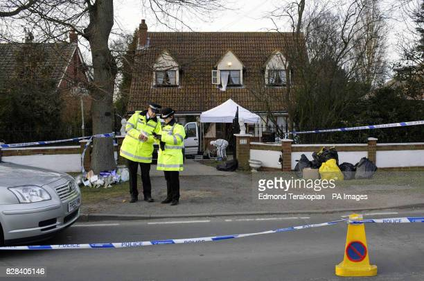 Detectives are searching for a gunman Wednesday March 2006 who shot and killed a man in the doorway of 292 Point Clear Road Osyth Essex Officers...