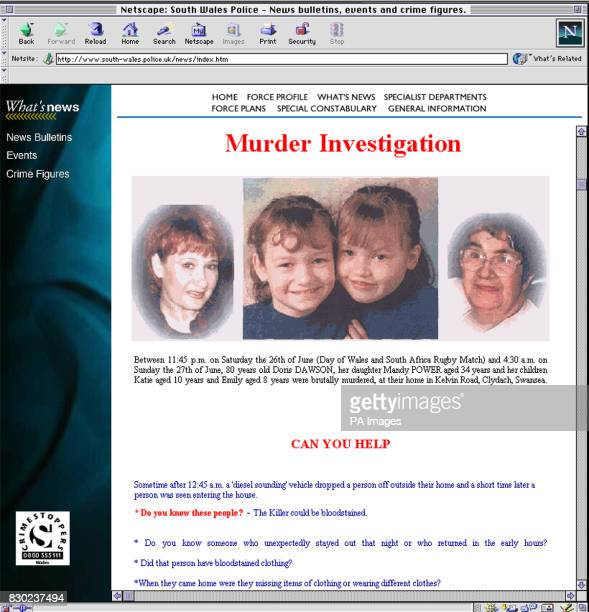Detectives investigating the murders Mandy Power her two daughters Katie 10 and Emily eight and Doris Dawson 80 have gone worldwide with their...