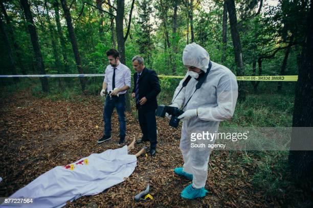 Detectives solving crime