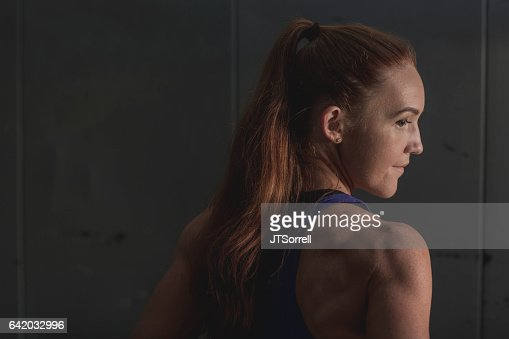 Determined Athletic Woman