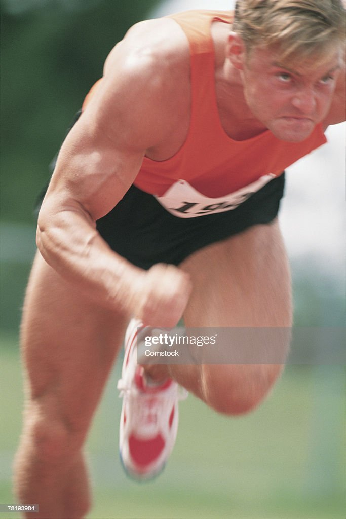 Determined runner : Stock Photo