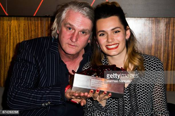 Detlev Buck and Ella Rumpf attend the New Faces Award Film at Haus Ungarn on April 27 2017 in Berlin Germany