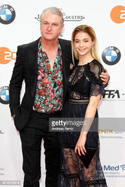 Detlev Buck and LisaMarie Koroll attend the Lola German Film Award red carpet at Messe Berlin on April 28 2017 in Berlin Germany