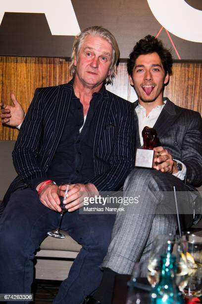 Detlev Buck and Noah Saavedra attend the New Faces Award Film at Haus Ungarn on April 27 2017 in Berlin Germany