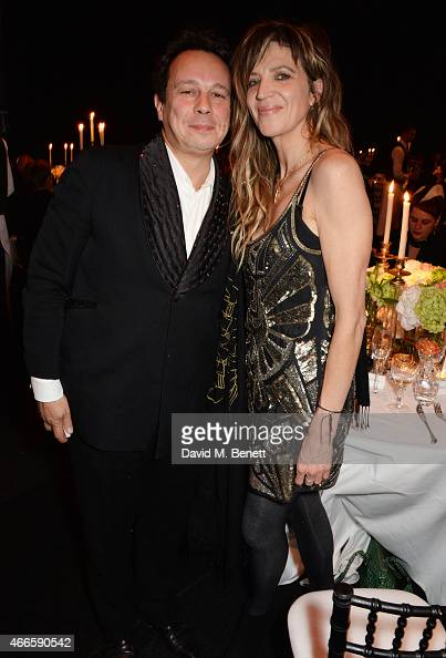 Detmar Blow and Martha Fiennes attend the BFI London Film Festival IWC Gala Dinner in honour of the BFI at Battersea Evolution Marquee on October 7...