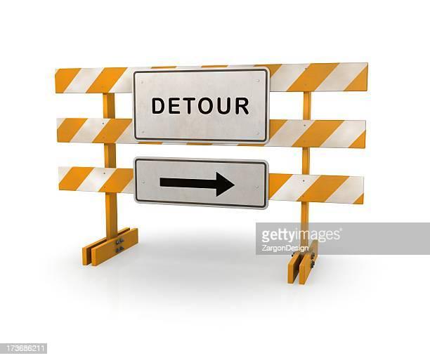 Detour Road Barricade