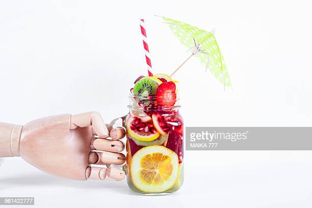 Detox water or infused water with fruits