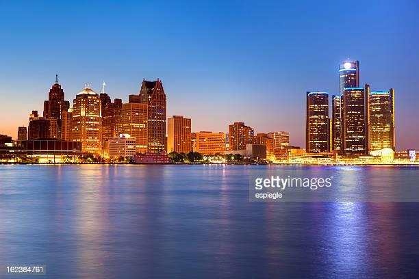 デトロイトの夕暮れ
