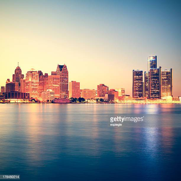 Detroit at sunset