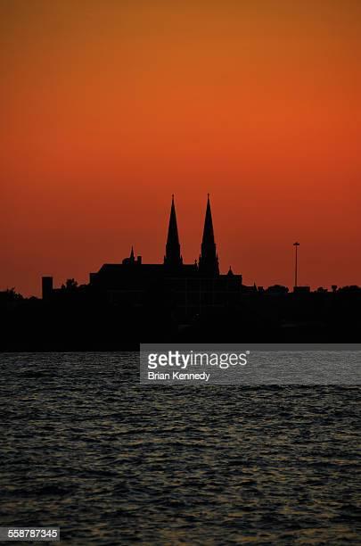 Detroit Church Silhouette