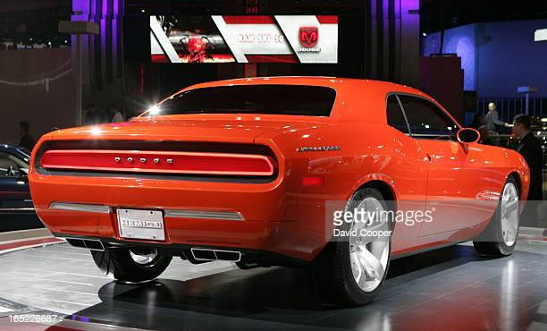 Dodge Challenger concept during the Tuesday Press preview day at the North American International Auto Show held at COBO Hall in downtown Detroit...