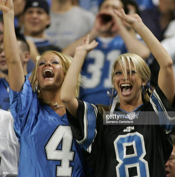 Detroit Lions fans during the Green Bay Packers vs Detroit Lions on September 14 2008 at Ford Field in Detroit Michigan