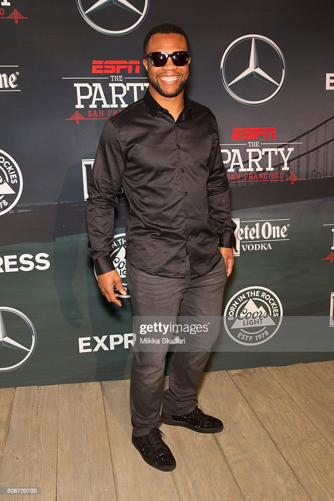 Detroit Lions safety Glover Quin arrives at the annual ESPN The Party at Fort Mason Center on February 5, 2016 in San Francisco, California.