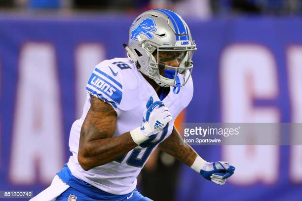 Detroit Lions wide receiver Kenny Golladay on the field prior to the National Football League game between the New York Giants and the Detroit Lions...