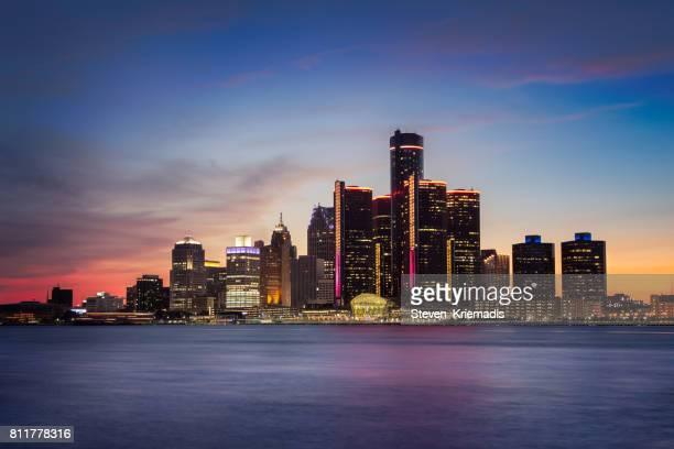 Detroit, Michigan at Dusk