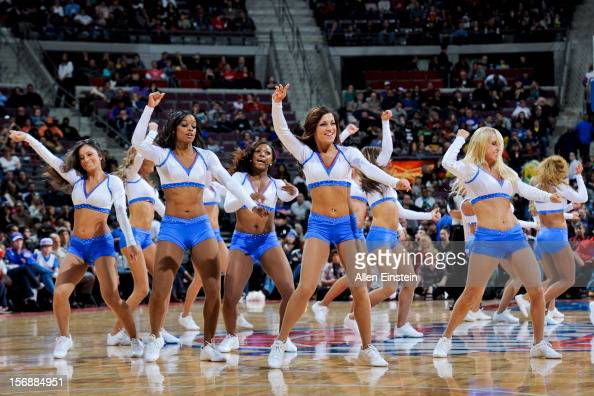 Detroit Pistons dancers perform during a game against the Toronto Raptors on November 23 2012 at The Palace of Auburn Hills in Auburn Hills Michigan...