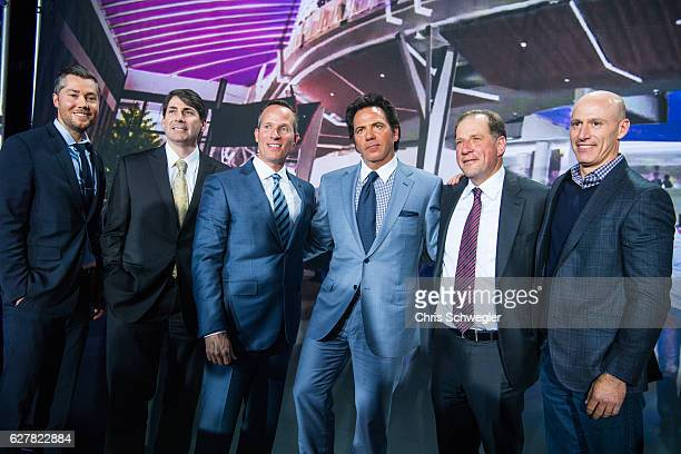 Detroit Pistons owner Tom Gores poses for a photo during a press conference to announce that they will move to downtown Detroit and begin playing at...