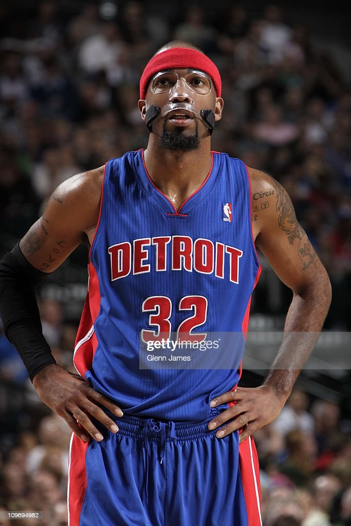 Detroit Pistons shooting guard Richard Hamilton #32 looks on during the game against the Dallas Mavericks on November 23, 2010 at the American Airlines Center in Dallas, Texas. The Mavericks won 88-84.