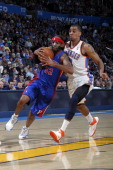Detroit Pistons shooting guard Richard Hamilton protects the ball during the game against the Oklahoma City Thunder on March 11 2011 at the Oklahoma...