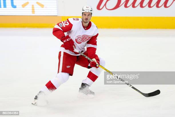Detroit Red Wings Defenceman Jonathan Ericsson during the NHL game between the Detroit Red Wings and Dallas Stars on October 10 2017 at the American...