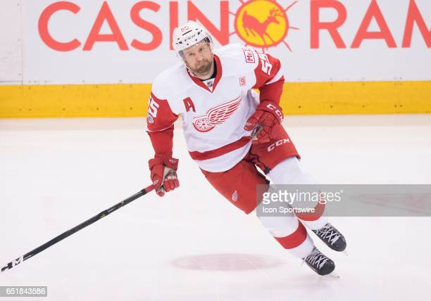 Detroit Red Wings defenseman Niklas Kronwall skates during the warm up before a game against the Toronto Maple Leafs at Air Canada Centre in Toronto...