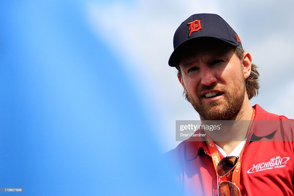 Detroit Red Wings player Niklas Kronwall attends the NASCAR Sprint Cup Series Quicken Loans 400 at Michigan International Speedway on June 16, 2013 in Brooklyn, Michigan.