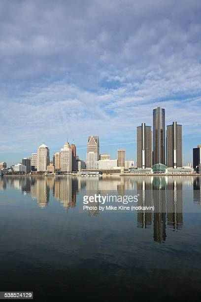 Detroit reflected on the river