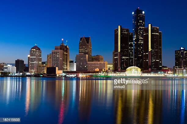 Detroit Skyline at Twilight