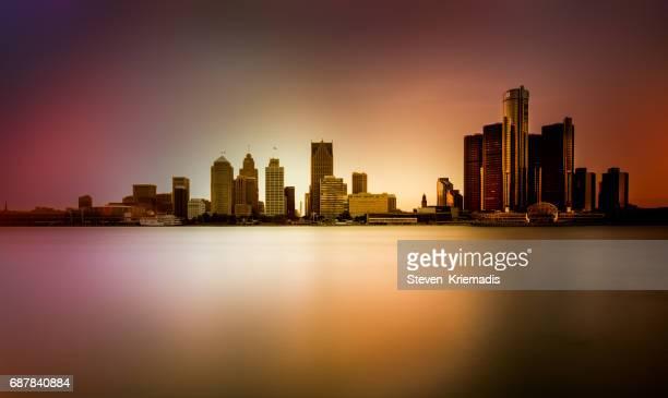 Detroit Skyline - Long Exposure