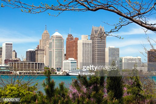 'Detroit skyline, view from Windsor'