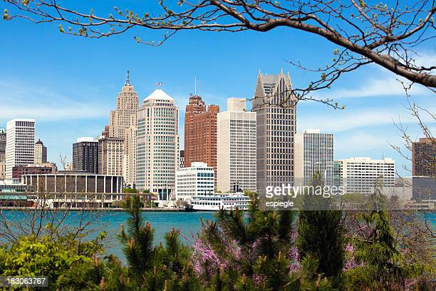 Detroit skyline seen from Windsor on a clear day