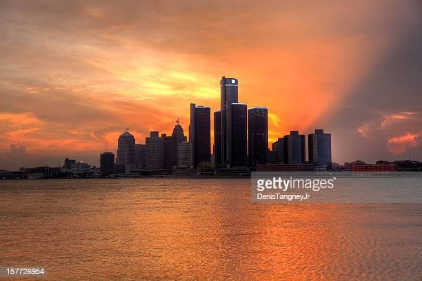 デトロイトの夕日