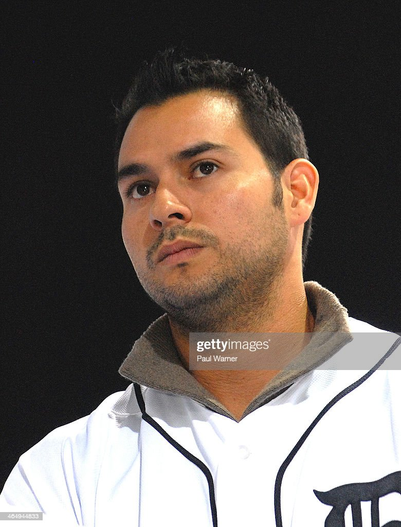 Detroit Tiger Anibal Sanchez attends the Detroit Tigers winter caravan tour stop at the North American International Auto Show at Cobo Hall on January 24, 2014 in Detroit, Michigan.