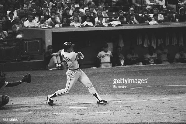 Detroit Tigers Lance Parrish singles in the second inning of the Detroit Tigers Milwaukee Brewers game in Milwaukee Wisconsin