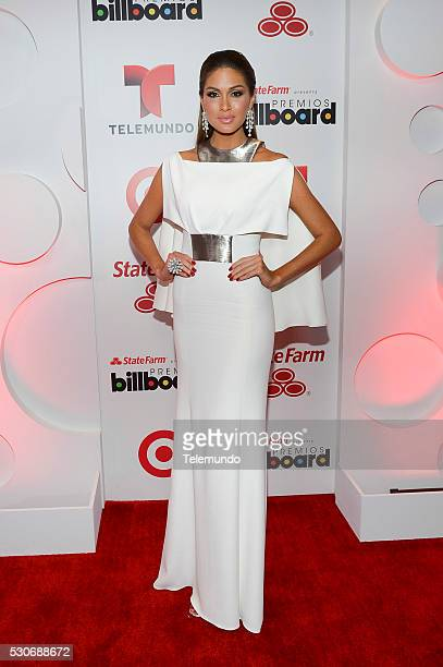 Miss Universe Gabriela Isler backstage during the 2014 Billboard Latin Music Awards from Miami Florida at BankUnited Center University of Miami April...