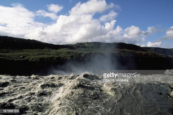 Dettifoss Waterfall Jokulsa National Park NordurThingeyjarsysla Iceland