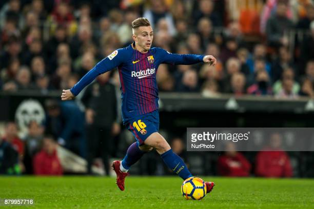 Deulofeu during the match between Valencia CF vs FC Barcelona week 13 of La Liga at Mestalla Stadium Valencia SPAIN on 26th November 2017
