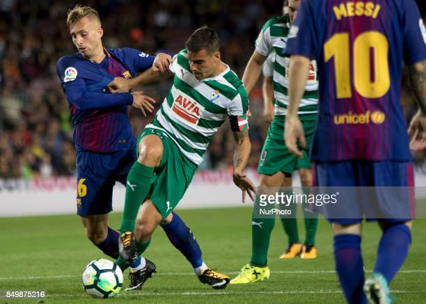 Deulofeu during the spanish league match between FC Barcelona and Eibar at Camp Nou Stadium in Barcelona Spain on September 19 2017