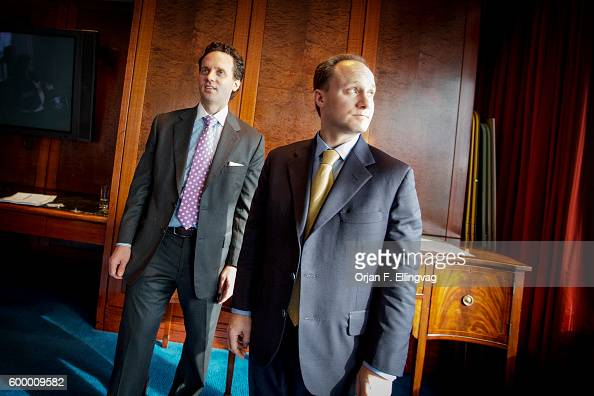 Deutsche Bank's economists Joe LaVorgna and David Bianco after a press briefing about their view on the fiscal cliff They believe the upcoming...