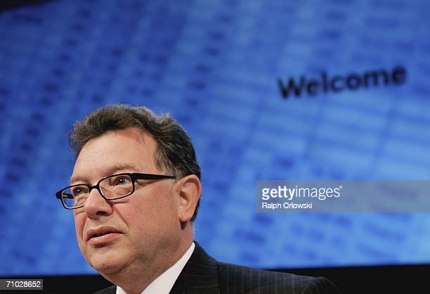 Deutsche Boerse AG Chief Executive Officer Reto Francioni arrives at their annual general meeting on May 24 2006 in Frankfurt Germany Deutsche Boerse...