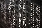Deutsche Borse Stock Exchange trading floor display.